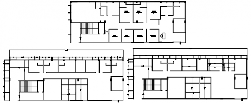 New office floor plan and framing plan structure cad drawing details dwg file