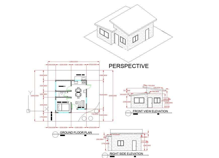 New plan model house plan layout file