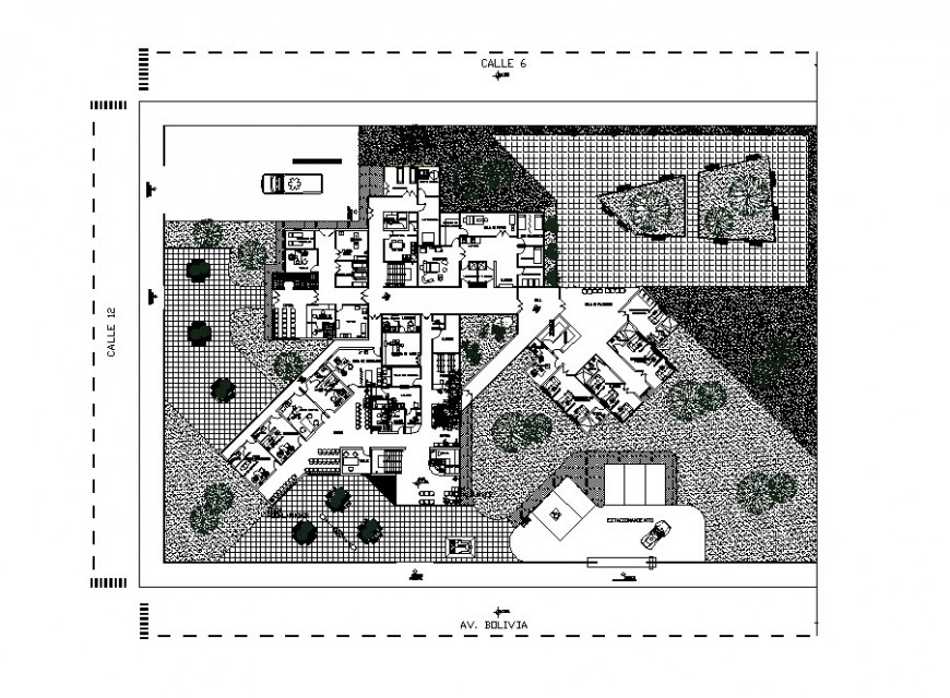 Obstetrics health center architecture layout plan cad drawing details dwg file