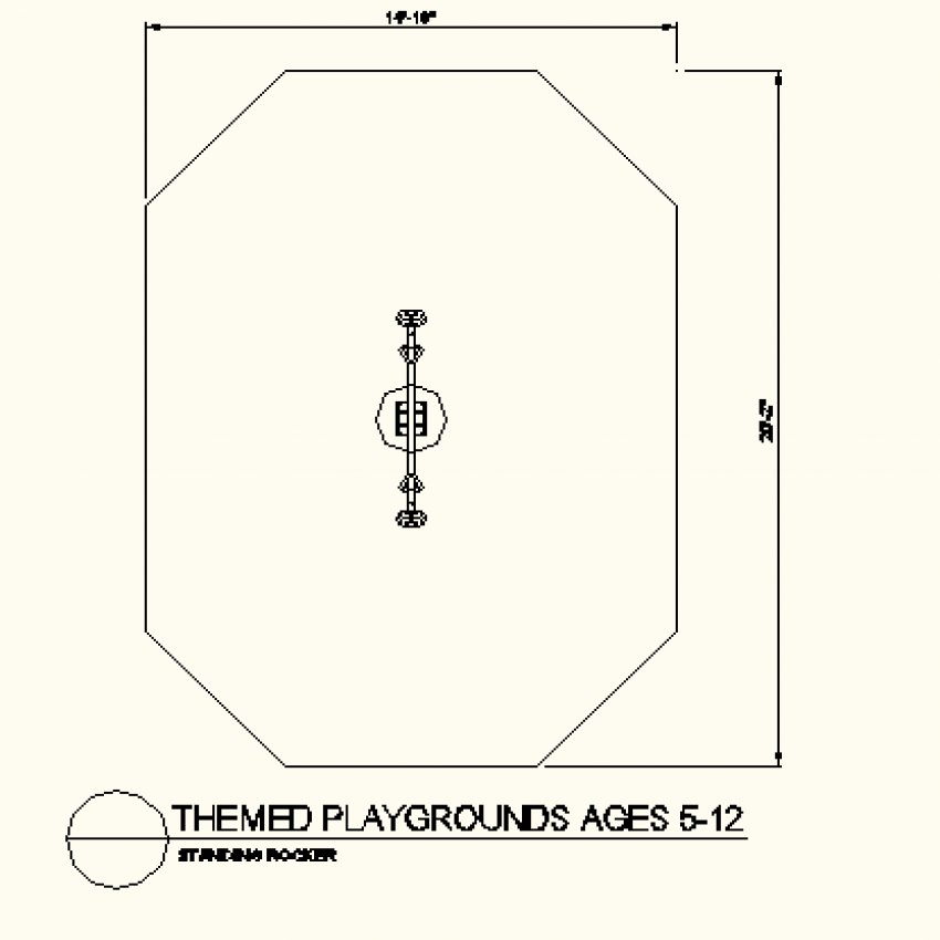 Octagon shape see-saw layout plan