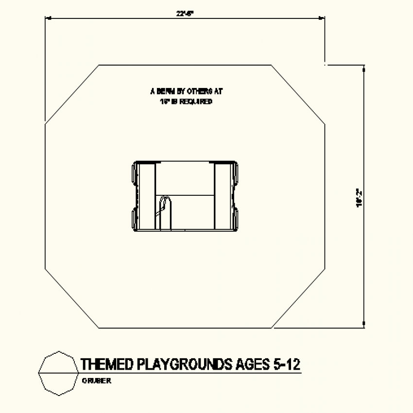 Octagonal shape type layout file