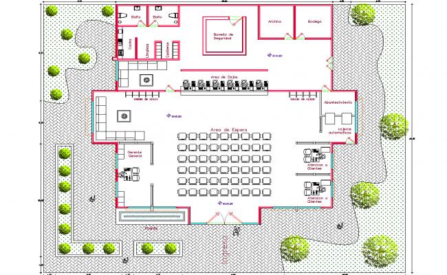 office 2d elevation details dwg file