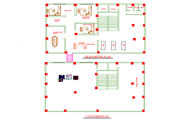building dwg autocad drawing