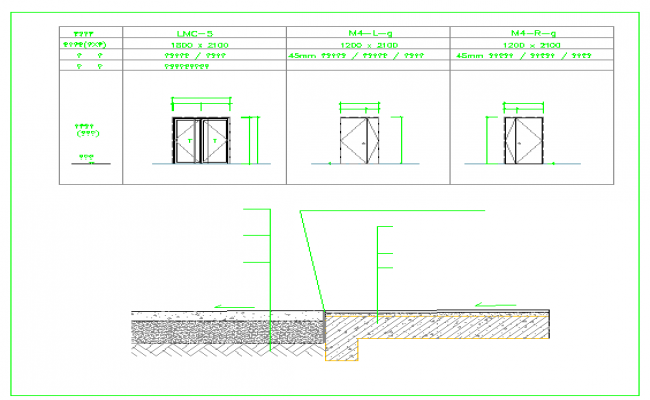 office corridor detail in cad file