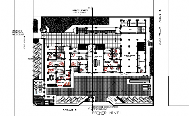 office primary level detail dwg file