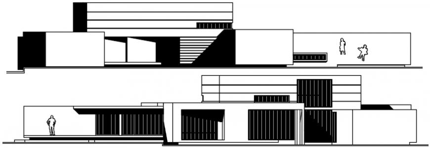 Office 2d elevation details model