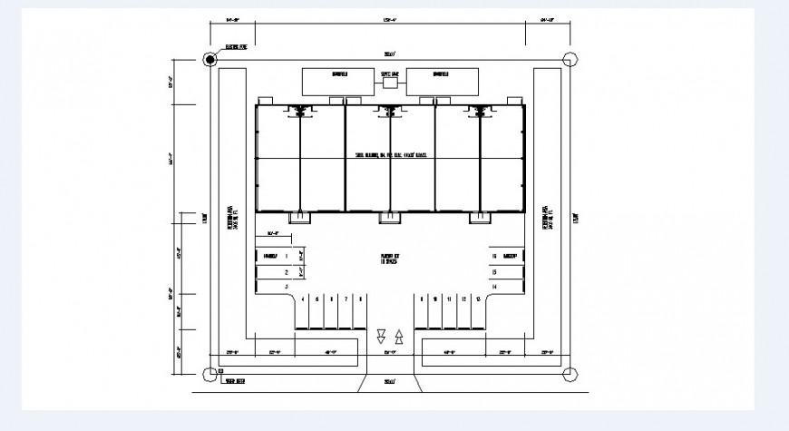 Office basement floor framing plan structure details dwg file