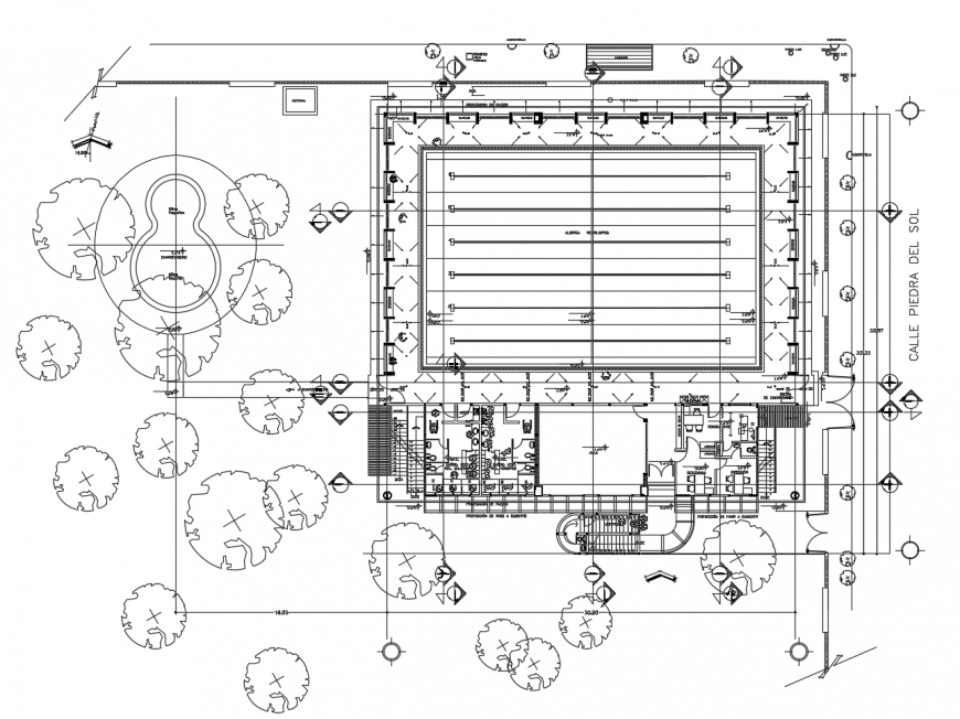 Office building architecture layout plan auto-cad drawing details dwg file
