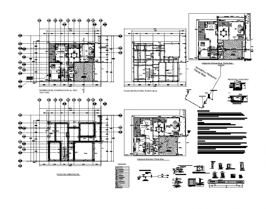 Office building detail elevation 2d view layout plan and section Autocad file