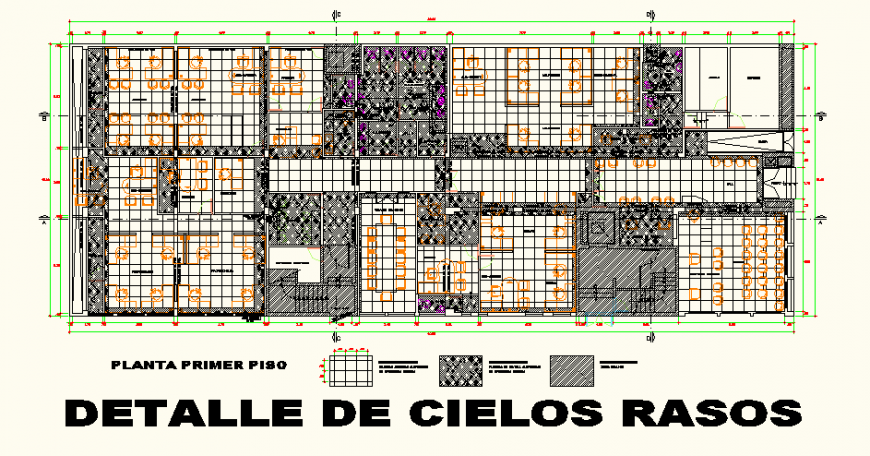 Office building detail plan layout files