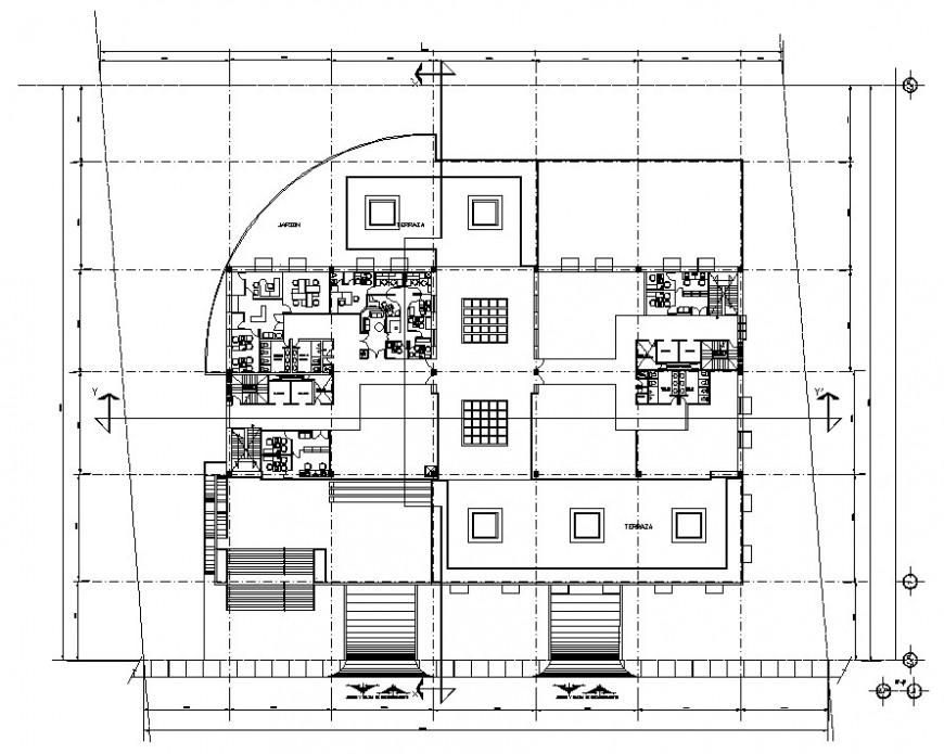 office building floor detail autocad file