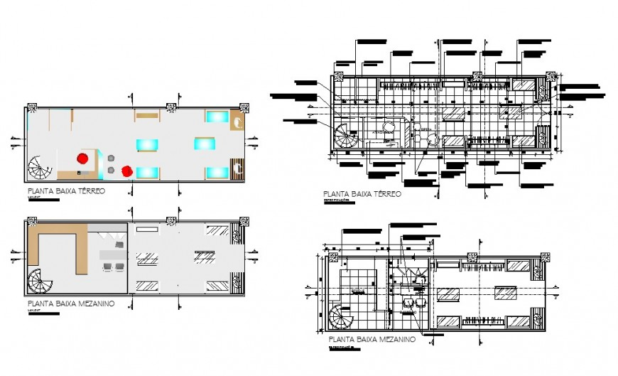 Office building floor distribution plan cad drawing details dwg file