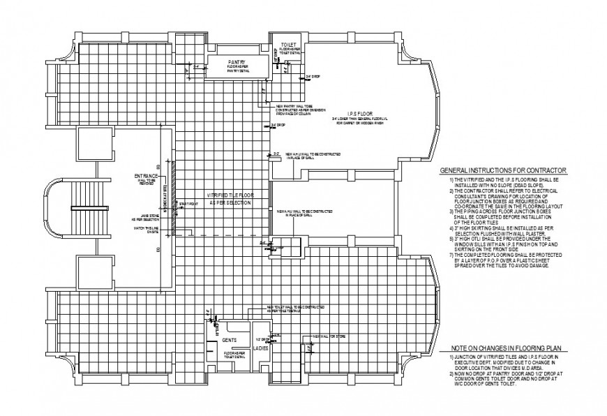 Office building floor plan and framing plan cad drawing details dwg file