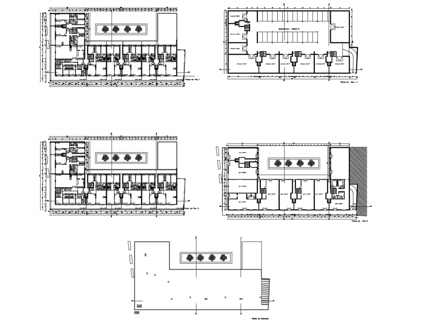 Office building floor plan distribution with sanitary facilities cad drawing details dwg file