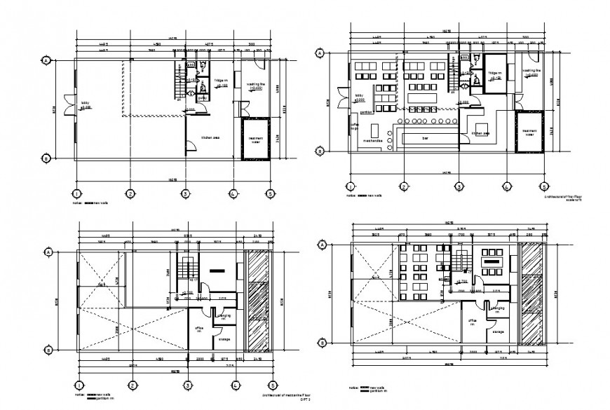 Office building floors and sanitary installation cad drawing details dwg file