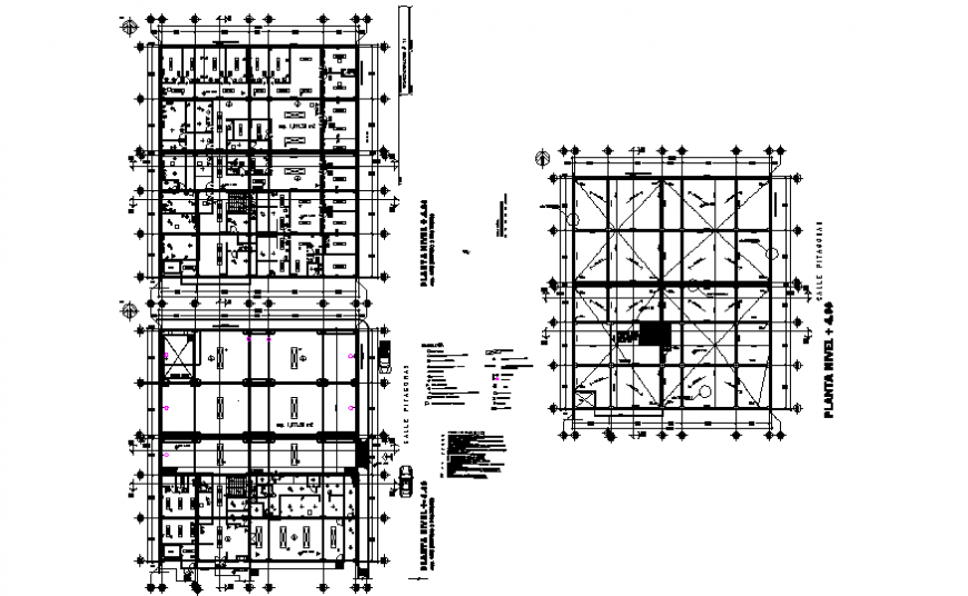 Office building general plan and cover plan and auto-cad details dwg file