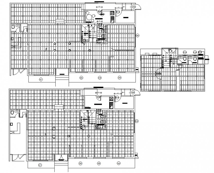 office building kitchen drawing cad file