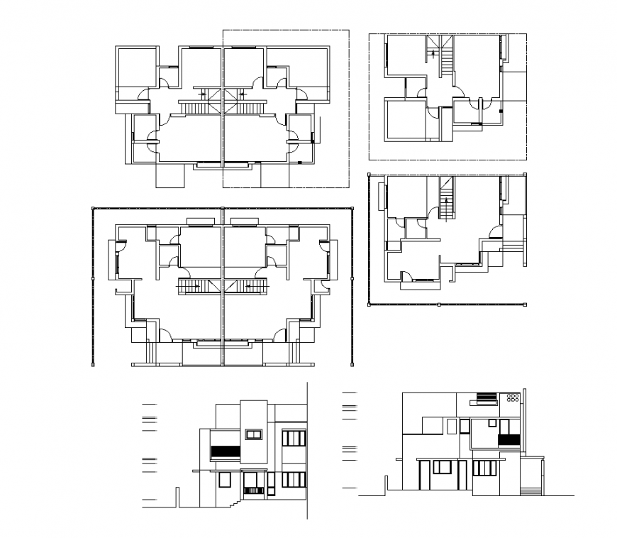 Office building plan 2d view detail AutoCAD file