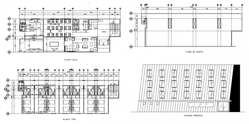 Office building plan structure 2d view layout file in autocad file