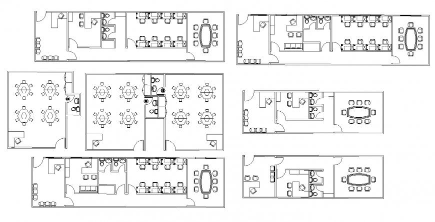 Office building structural plan 2d view layout dwg file