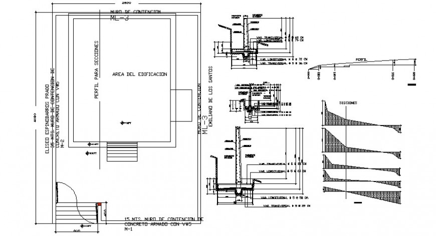 Office floor framing plan structure and column details dwg file