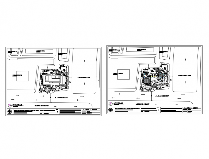 Office ground floor and first floor layout plan cad drawing details dwg file
