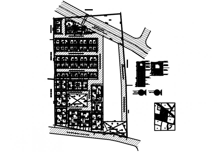 Office layout plan detail