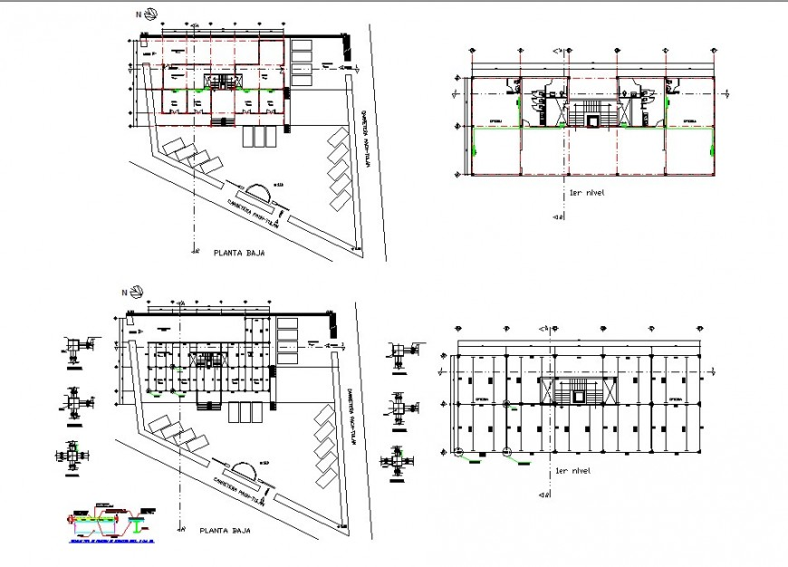 Office project top view layout plan