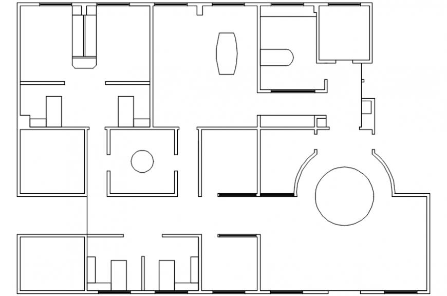 Office spacing layout plan
