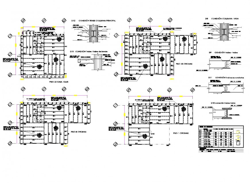 Office structure detail autocad file