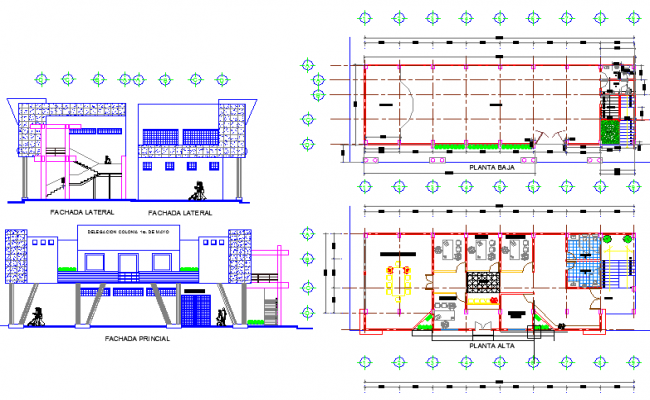 offices with auditorium floor plan design