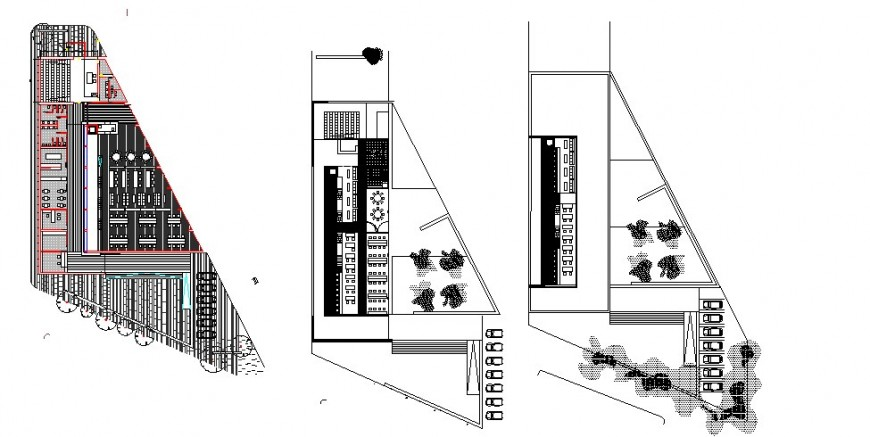 Old books library building floor plan distribution cad drawing details dwg file