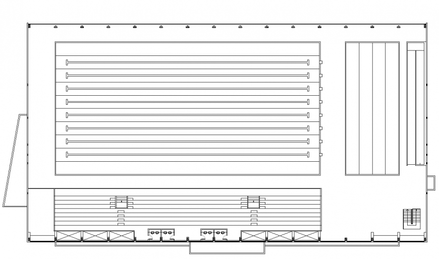 Olympic Swimming Pool plan detail 2d view layout file in autocad format