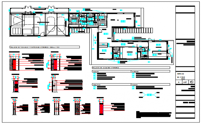one family housing masonry and wet finishes design drawing