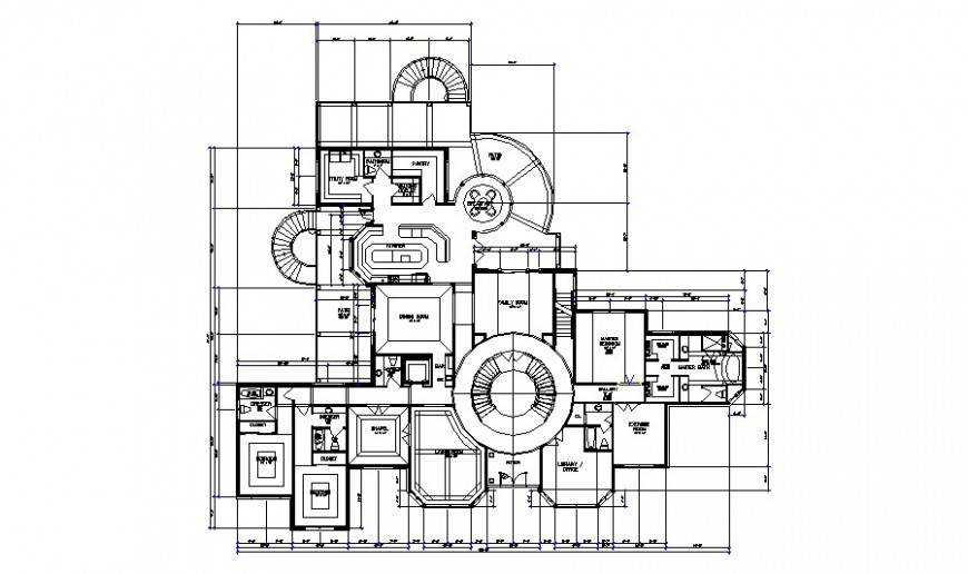 One family house architecture layout plan auto-cad drawing details dwg file