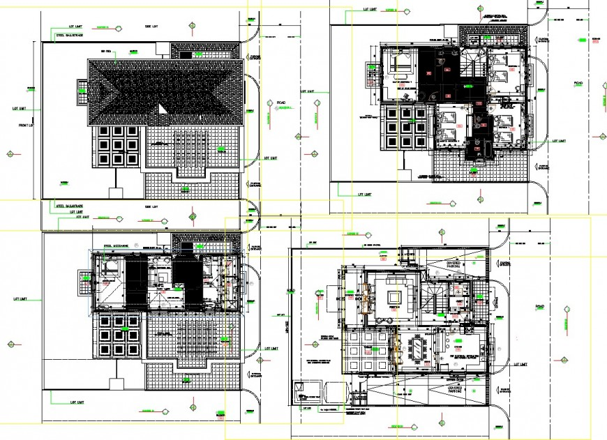 One family house detail dwg file