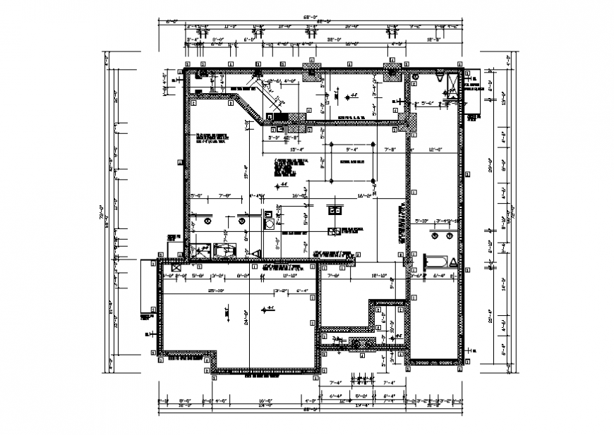 One family house framing plan cad drawing details dwg file