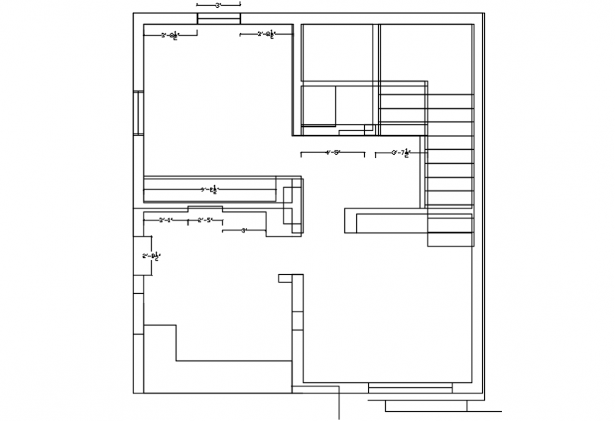One family house framing plan structure cad drawing details dwg file