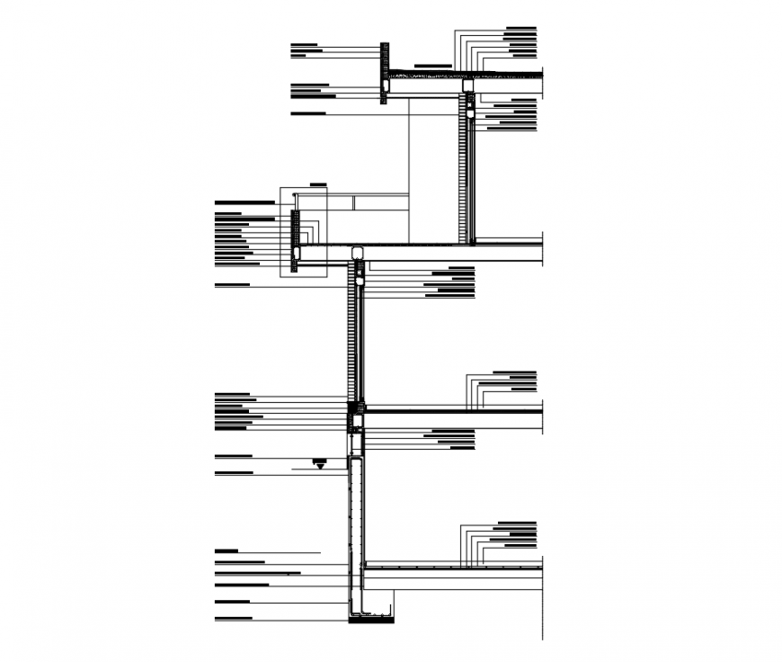 One family house front constructive-sectional details dwg file