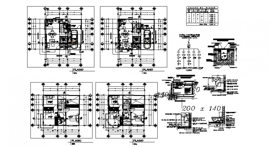 One family house ground and first floor and electrical layout plan details dwg file