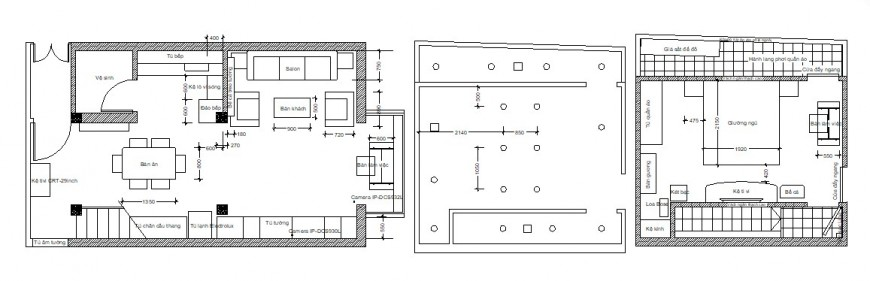 One family house layout plan 2d cad drawing details dwg file