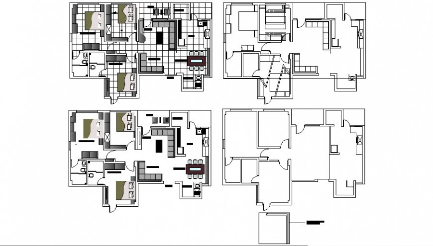 One family house layout plan and framing plan details dwg file