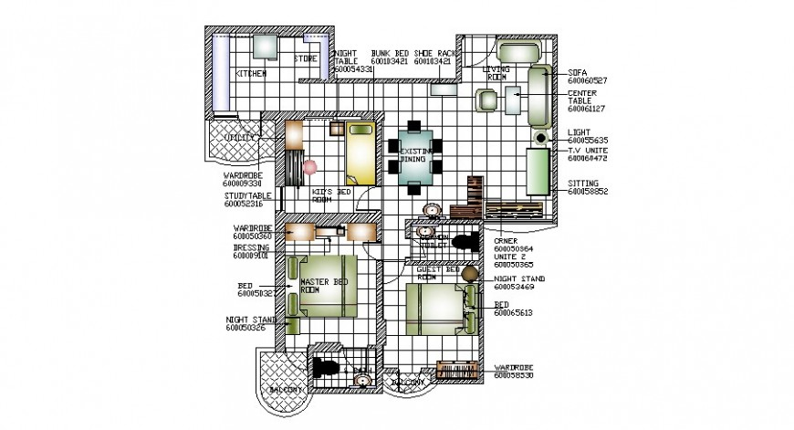 One family house layout plan with furniture layout cad drawing details dwg file