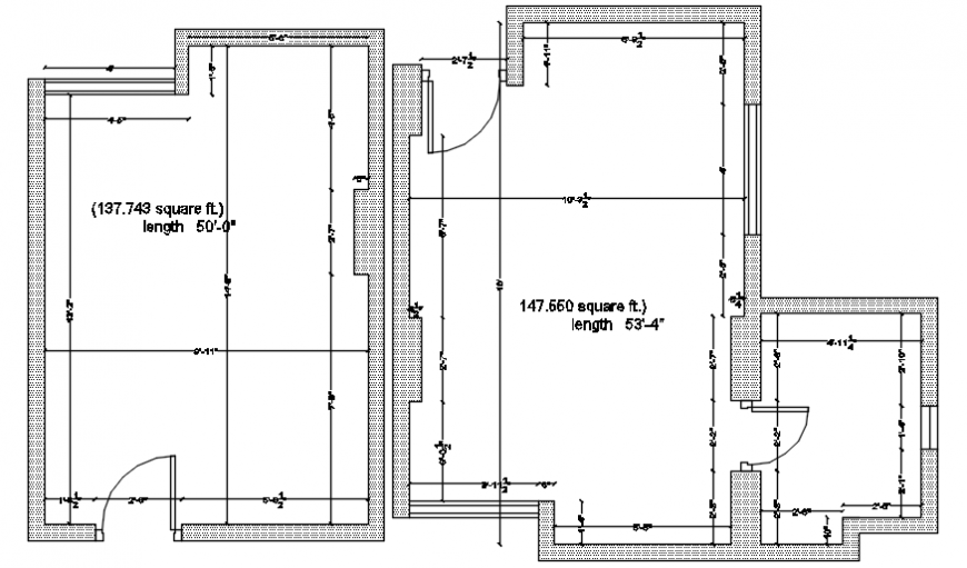 One family house two floor framing plan auto-cad drawing details dwg file