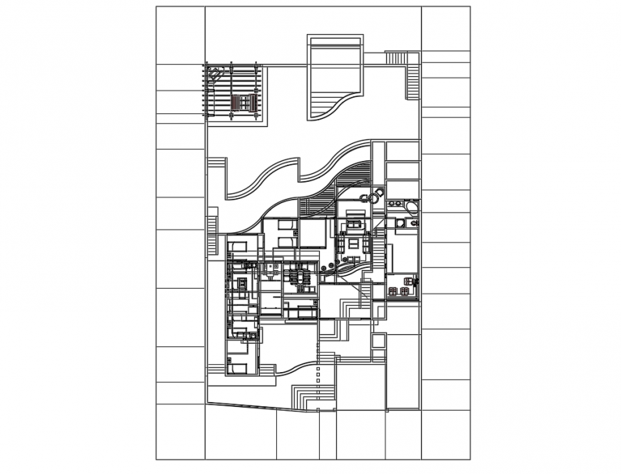 One family housing deluxe scale model cad drawing details dwg file
