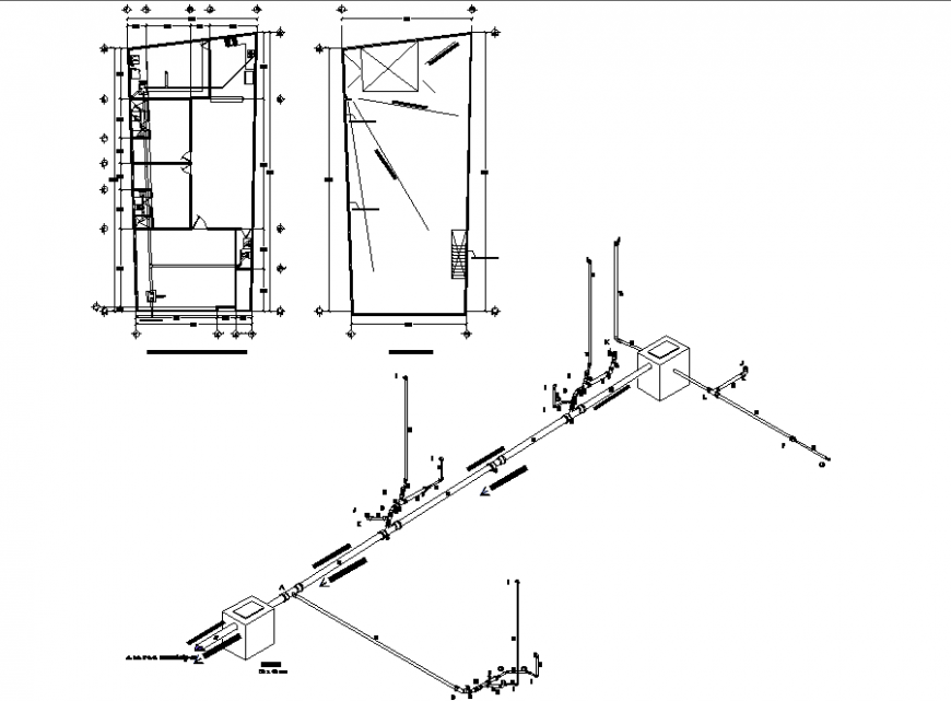 One family housing detail drawing in dwg file.