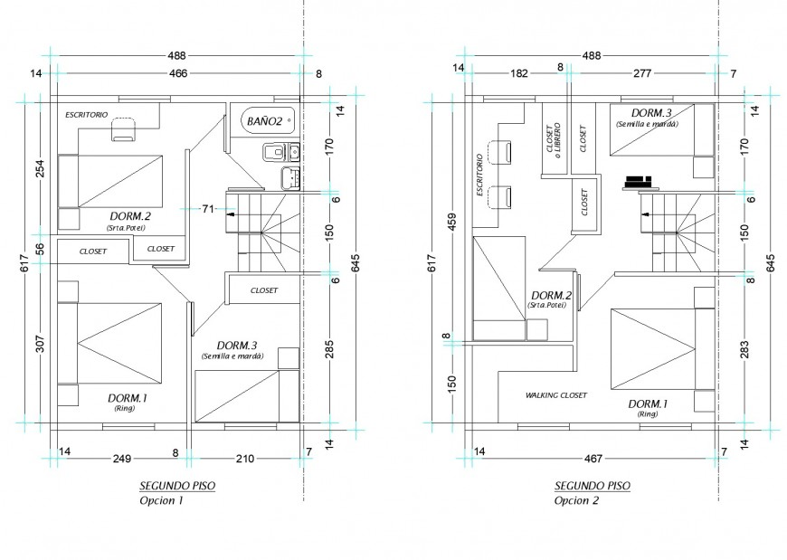 One family housing plan autocad file