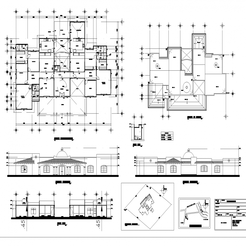 One family housing plan layout file