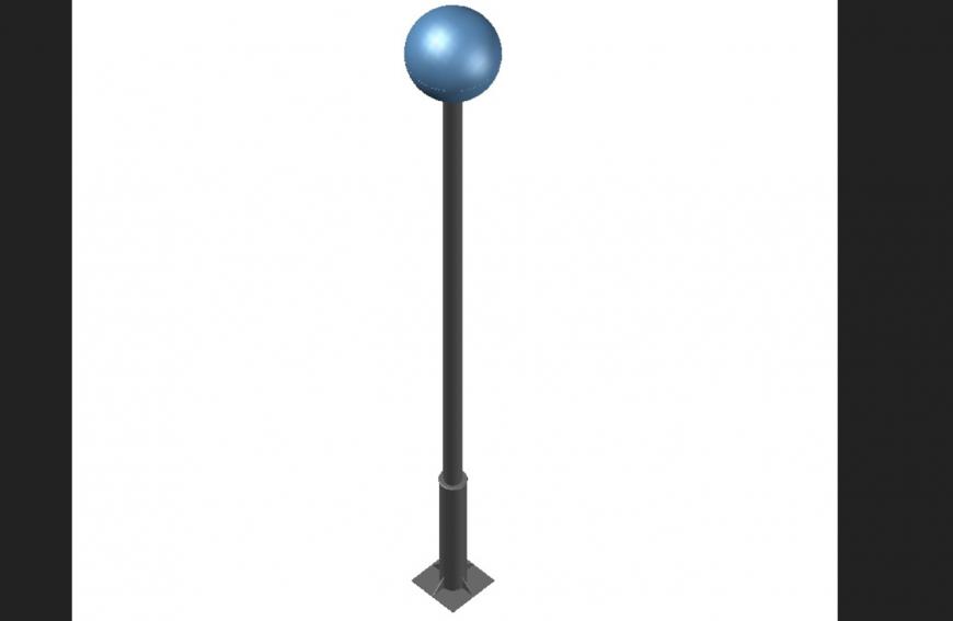 One lamp 3 D plan