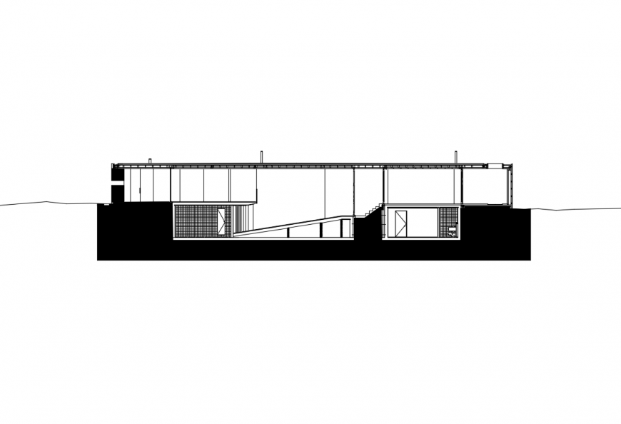 One level house facade elevation cad drawing details dwg file